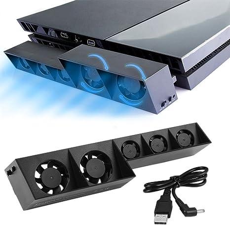 Hongfutong - Ventilador para PS4 Playstation con Sistema de ...