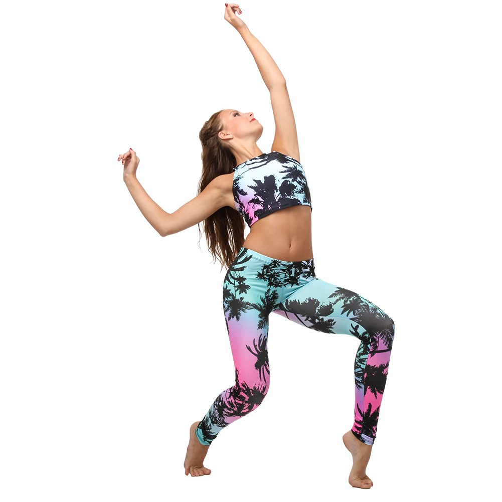 Alexandra Collection Youth Tropical Athletic Legging