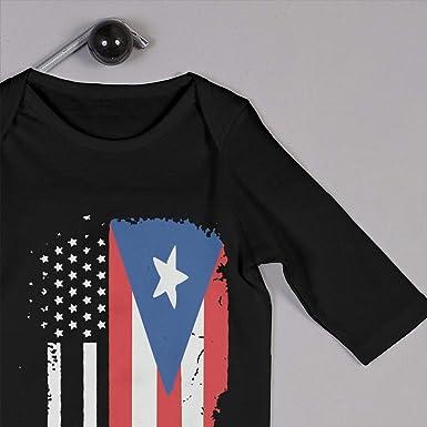 German Puerto Rico Flags Puzzle Newborn Baby Long Sleeve Baby Girls Assorted Short Sleeve Bodysuit Black