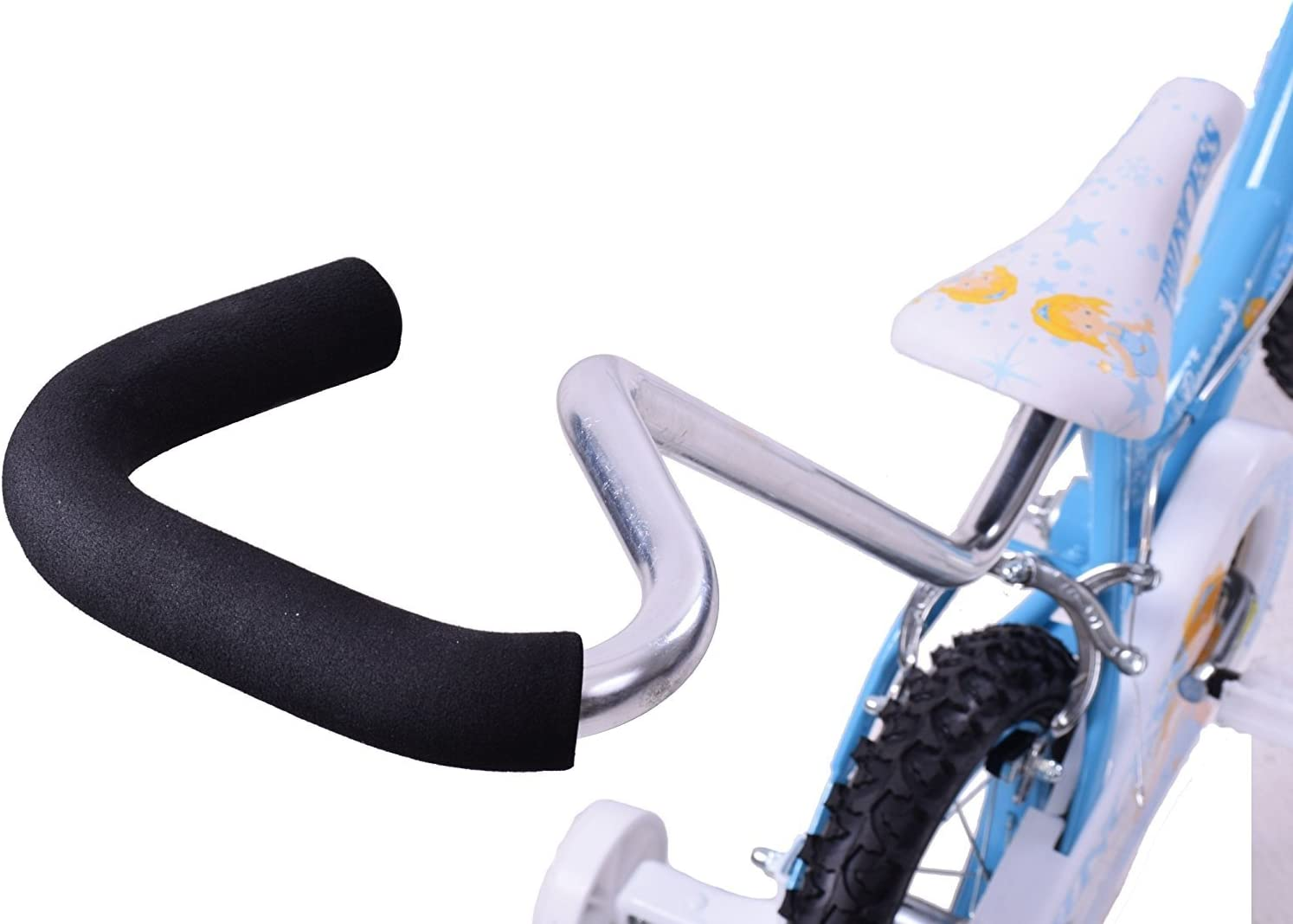 Easy-topbuy Learning Push Handle Kids Safety Pole Bar Bicycle Steerer Control Steel Bicycle Non-slip Safety Grip Black Bike Parent Grab Handle