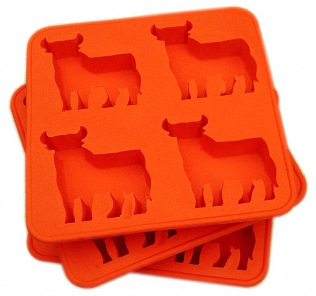 Compra Generic silicona rojo Bull cubo de hielo congelador bandeja ...