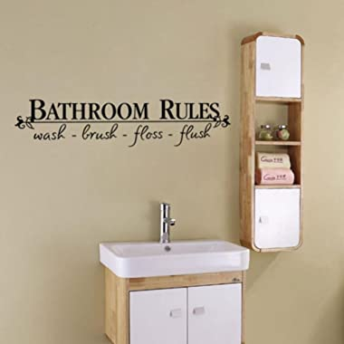 Vacally Wall Decor Wallpaper Removable DIY Wall Sticker Mural Home Decal Decor For Bathroom