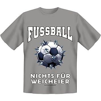 Fun Camiseta de fútbol – Nada para blandos. FB gris Gris gris Talla:medium