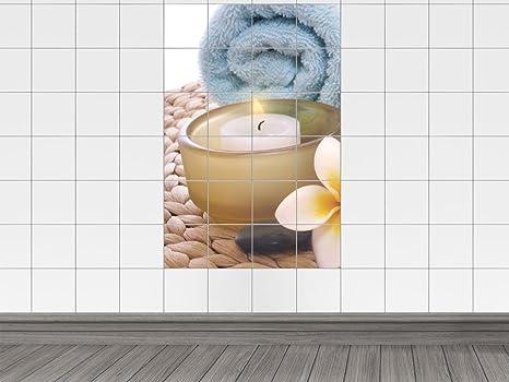 Piastrelle parete modello piastrelle schermo per bagno candela