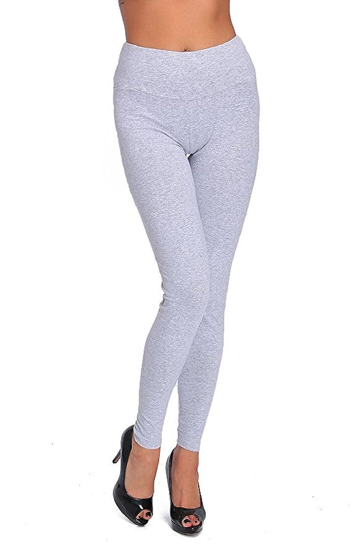 1d59fc297e78a Hot Hanger Womens High Waist Full Length Cotton Leggings UK Size 8-28:  Amazon.co.uk: Clothing