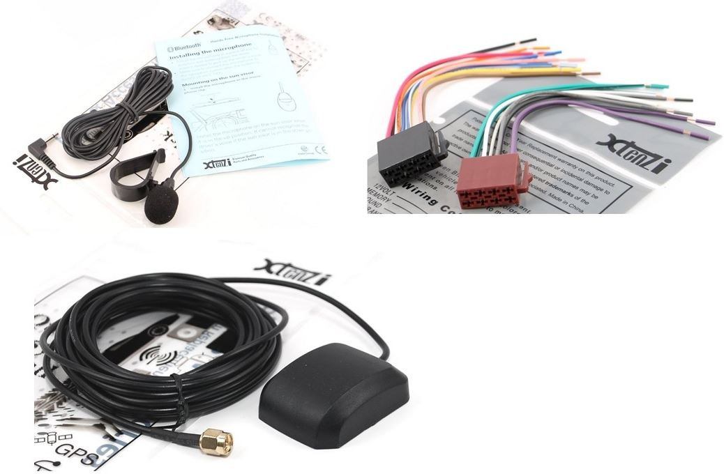 Xtenzi Connection Cable Set Compatible with Pioneer App radio SPH-DA01 SPH-DA02 GPS Antenna MIC Wire Harness 3PCS by Xtenzi