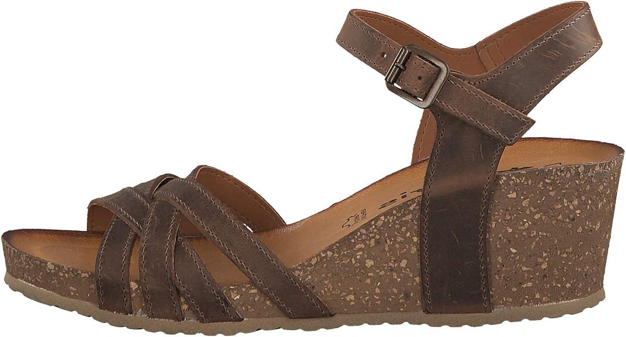Tamaris 1-1-28342-22 Femme Sandales compens/ées,Sandales,Sandales compens/ées,Chaussures d/ét/é,Confortable,Plat