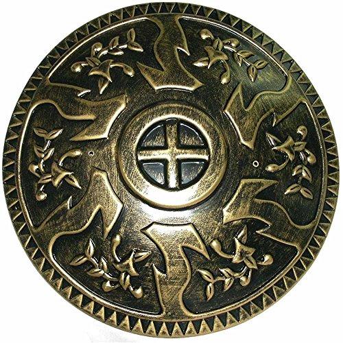 23821 Roman Shield 17 inch Round Gold New Design -