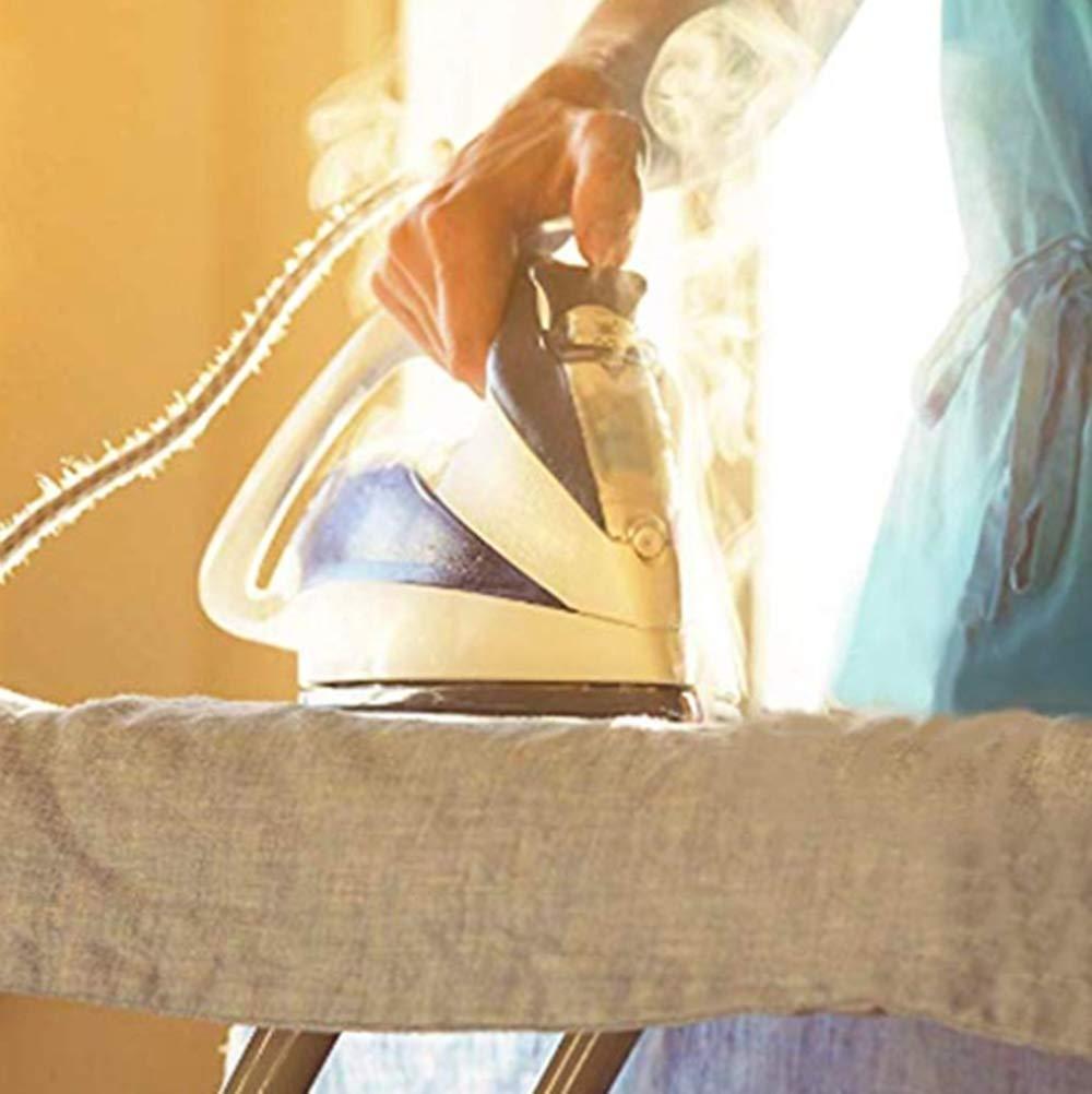 per casa e Hotel 100/% Cotone 160X60cm termoriflettente Brabanta Copriasse da Stiro Resistente alle bruciature Copriasse da Stiro con Quattro Clip