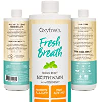 Oxyfresh Fresh Breath Fresh Mint Mouthwash – Dentist Recommended for Long-Lasting...