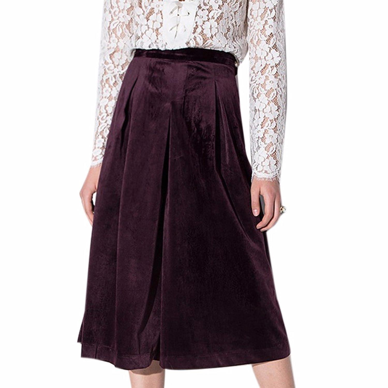 New Formal Party High Waist Women Girls Pocket Loose Wide Leg Trouses Pants