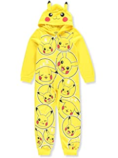 d877c68bd0 AME Sleepwear Boys  Pokemon Pikachu Blanket Sleeper Pajama with Hood ...
