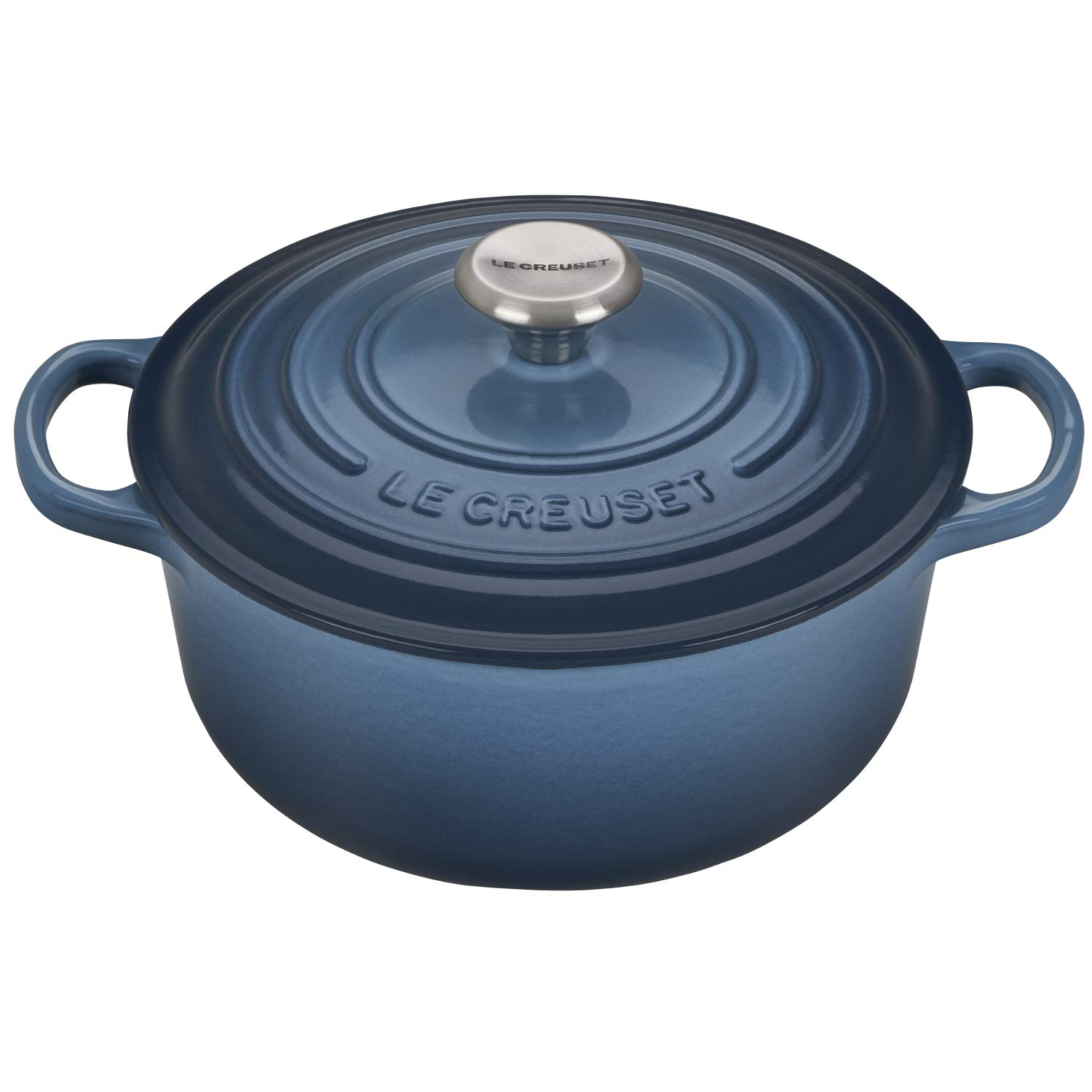 "Le Creuset of America LS2501-206MSS Enameled Dutch Oven, 2.75"", Marine"