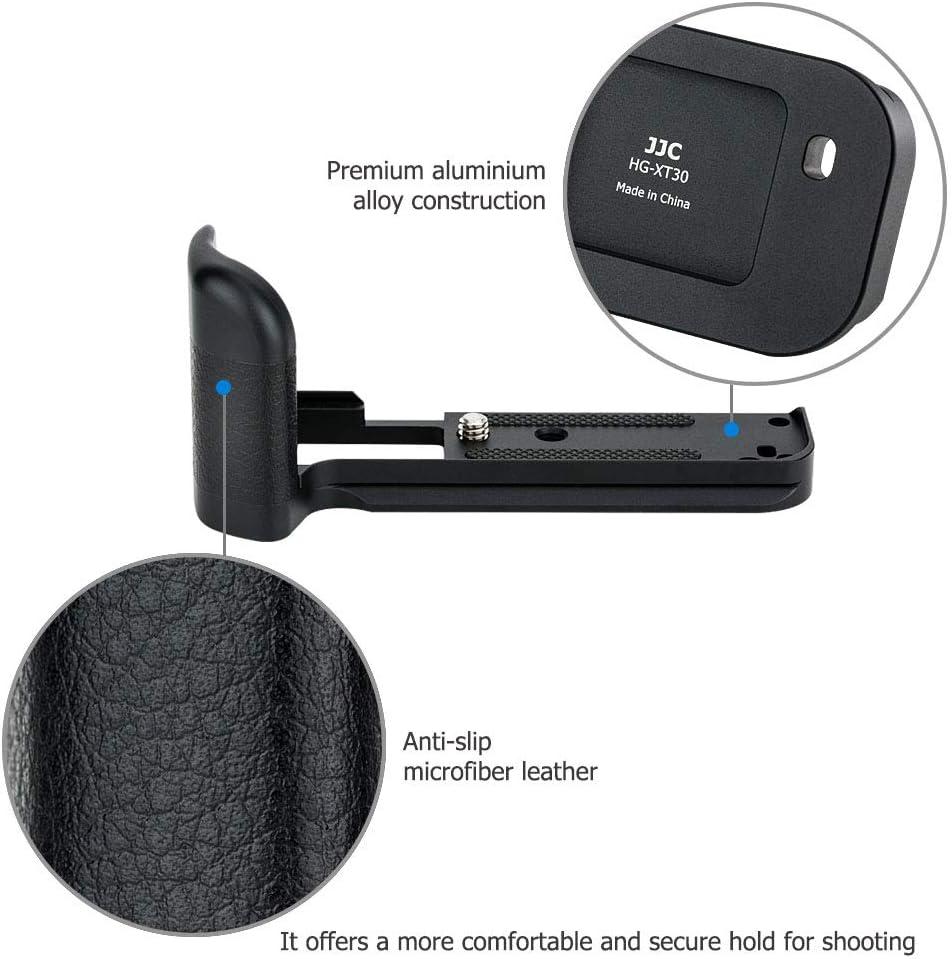 JJC MHG-XT10 Solid Metal Hand Grip Secure Handle Bracket for Fuji Fujifilm X-T30 X-T20 X-T10 XT30 XT20 XT10 Mirrorrless Camera,Anti-Slip Pads Design /& Arca Swiss Type Quick Release Plate Design