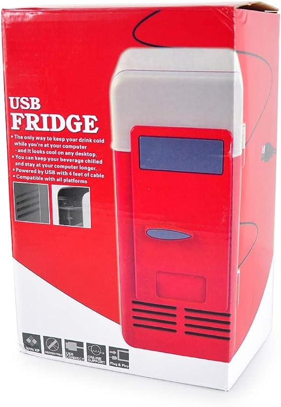 Lychee Mini Nevera Electrica USB Refrigerador Silenciosa Portátil ...