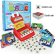 Matching Letter Game, Alphabet Reading & Spelling, Words & Objects, Number & Color Recognition, Ed