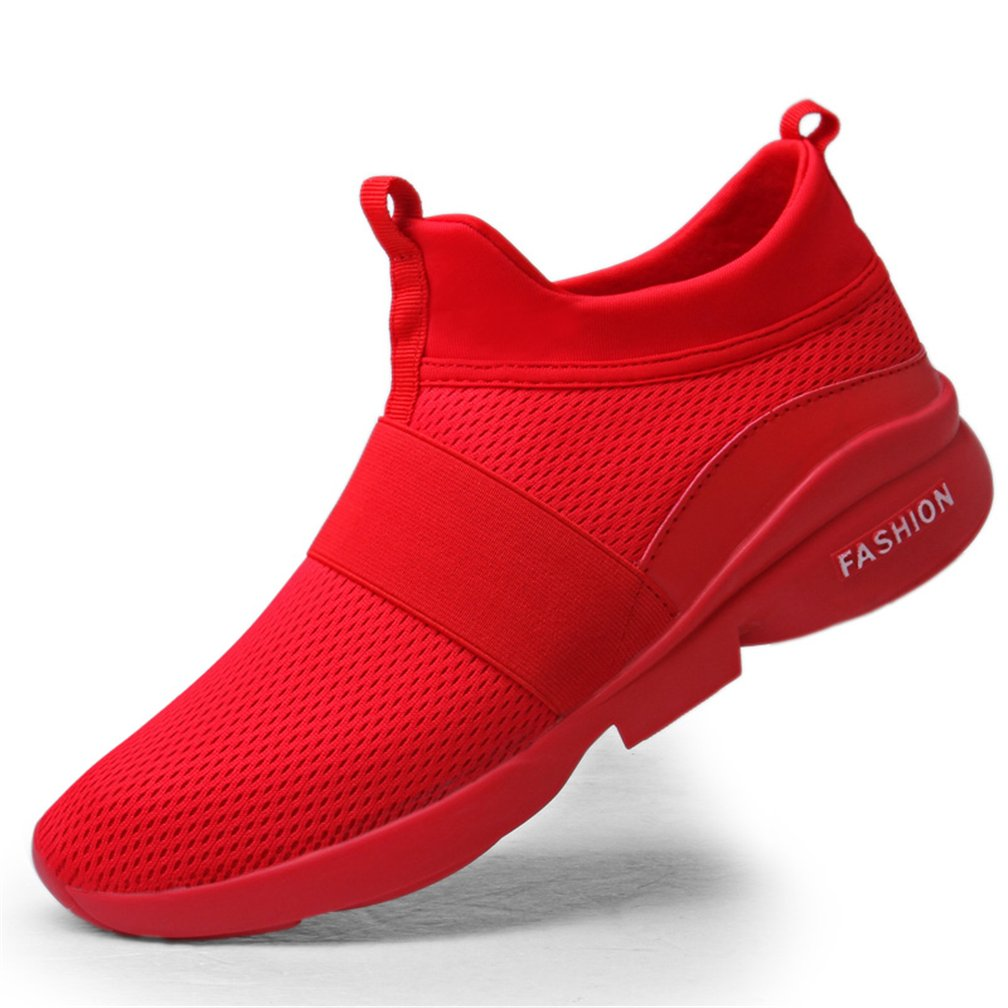 UTENAG Men's Athletic Running Shoes Sports Walking Fitness Casual Mesh Lightweight Breathable Sneakers B07B7J7TFH 10 D(M) US|B Red