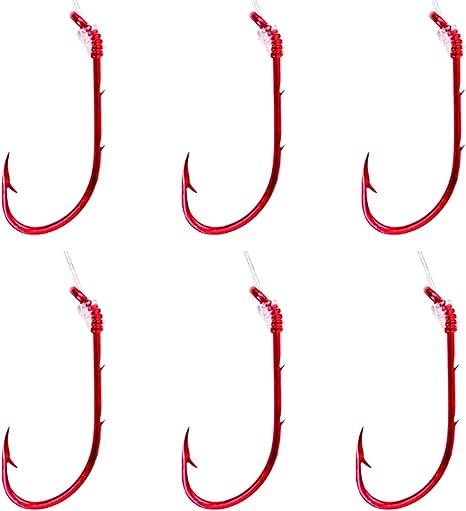 Genuine Eagle Claw Snelled Fish Hooks No 139 Size 8//6hooks Details about  /Vintage