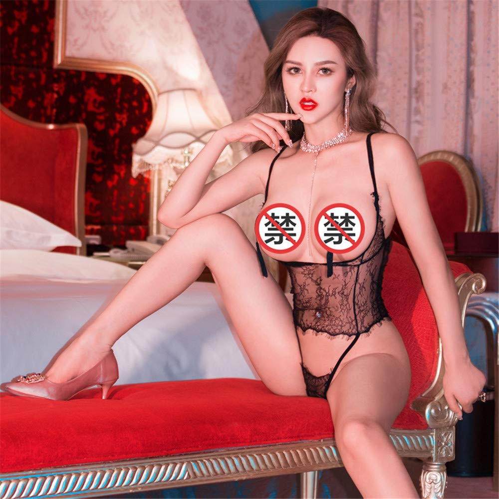 YZNKDCD Ropa interior erótica Ropa interior erótica pijamas con con pijamas sentido femenino traje de una sola pieza tentación uniforme de gran tamaño ropa interior sexy tanga encaje camisón 4c4421