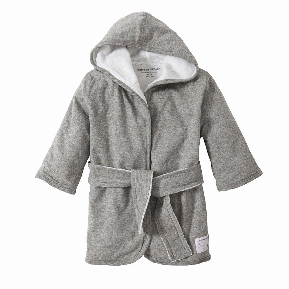 Burt's Bees Baby - Infant Hooded Robe, 100% Organic Cotton (Heather Gray) Burt's Bees Baby LY10000-HTG-09