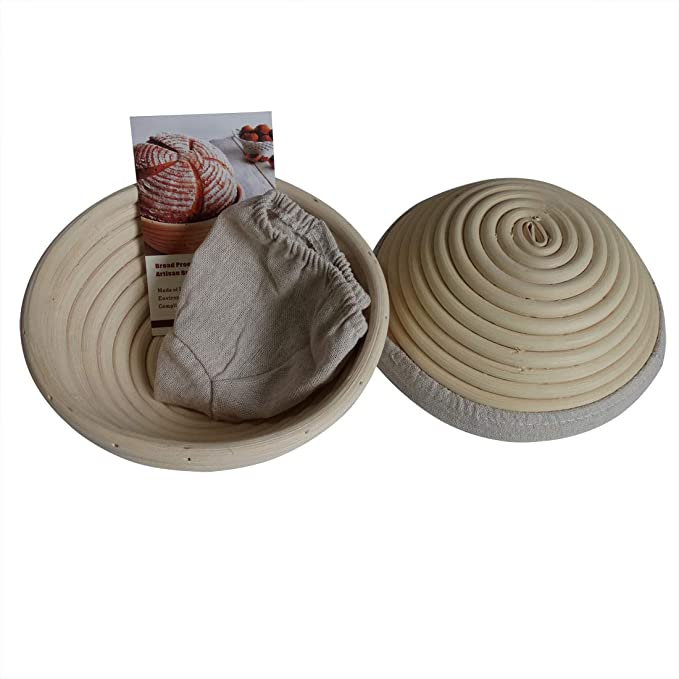 5 Size Baskets Round Bread Rattan Basket Banneton Dough Rising High Quali L6Z4