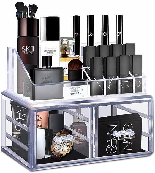 Organizador de maquillaje acrílico transparente, caja de ...
