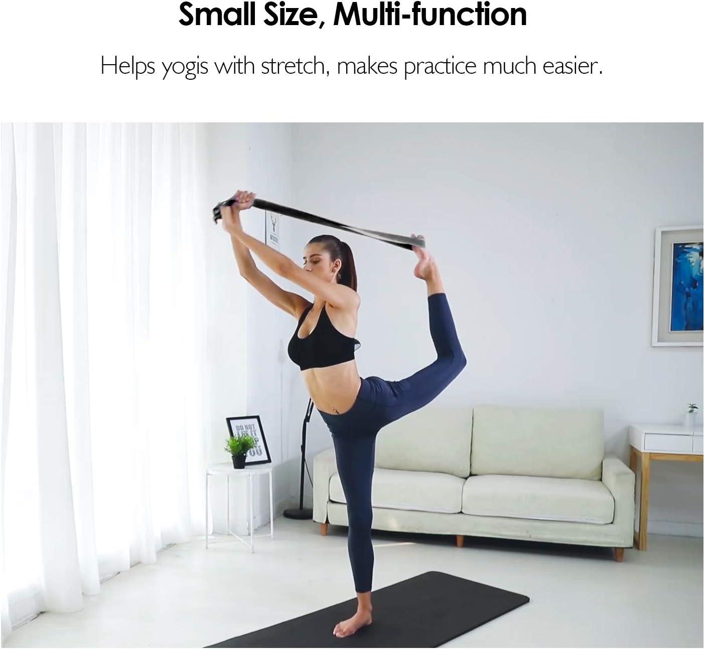 Reehut Fitness Exercice - Correa para yoga (1,8 metros, 2,4 metros, 3 metros) con hebilla de anilla en D ajustable para estiramiento, flexibilidad y ...