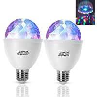 Aigostar LED discolamp E27 3W RGB discobal 360° roterende LED-feestverlichting sfeerlicht party decoratie voor…