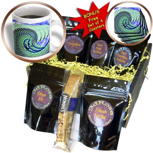 Spiritual Awakenings Surfing Art - Cool Wave and Surfer Art - Coffee Gift Baskets - Coffee Gift Basket (cgb_108139_1)