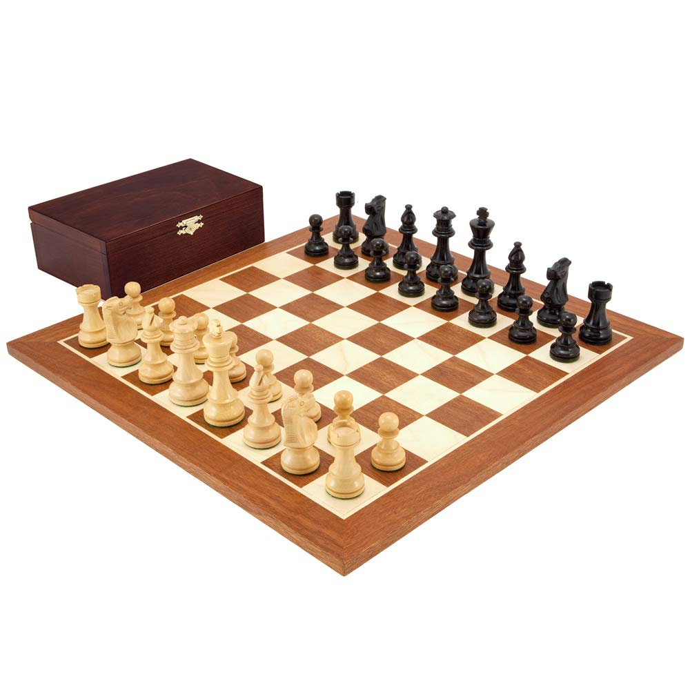 Französisch Ritter schwarz Mahagoni Mahagoni Mahagoni Schachspiel 4b6ed3