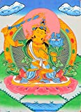 Bodhisattva Manjushri - Tibetan Buddhist Yogini - Tibetan Thangka Painting