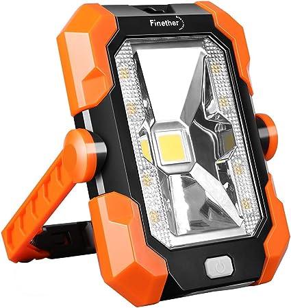 Projecteur Travail Rechargeable Lampe de Camping LED Portable lumière Travail de