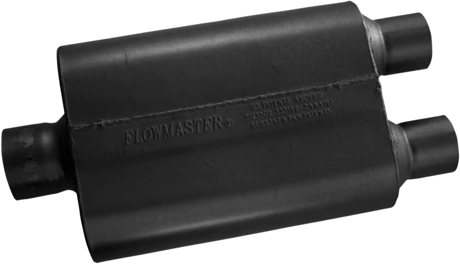 "Flowmaster 430402 Universal Muffler 40 Series 3/"" Center In//2.5/"" DUAL Out"