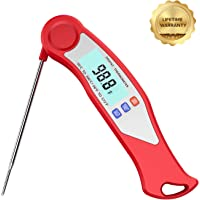 GuanTek Instant Read Meat Thermometer (Red)