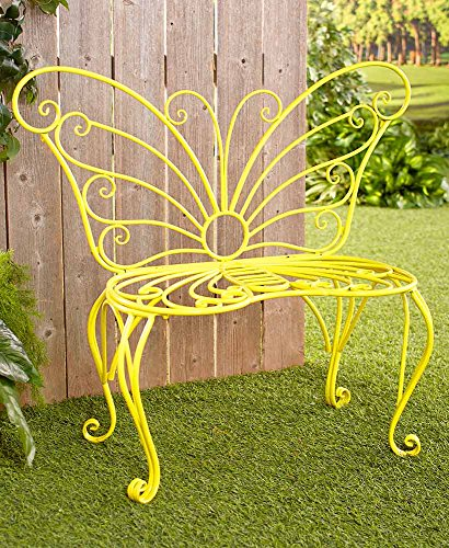 The Lakeside Collection Metal Butterfly Bench