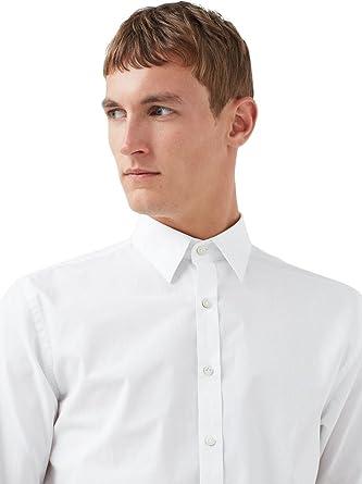 MANGO MAN - Camisa casual - para hombre blanco L: Amazon.es ...