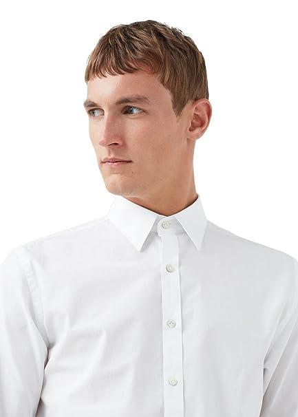 MANGO MAN - Camisa casual - para hombre blanco L: Amazon.es: Ropa y accesorios