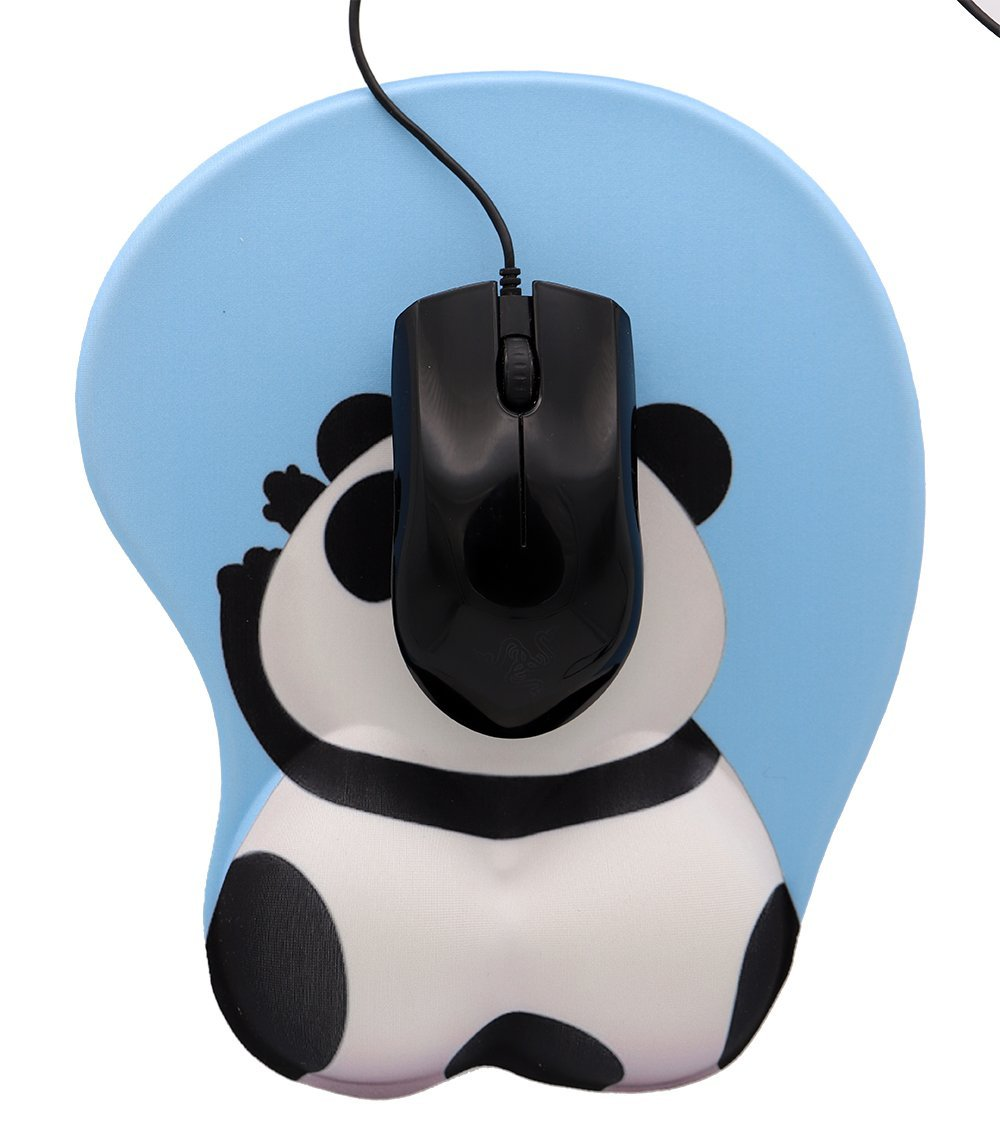 Cute Cartoon Panda Butt 3D Soft Wrist Support Gaming Office Mouse Pad (Panda) by Dream Date (Image #2)
