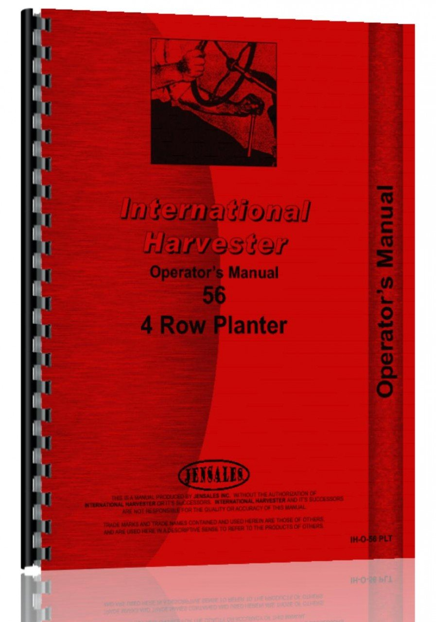 International Harvester 56 Planter Operators Manual Case Wiring Diagram 0739718065635 Books