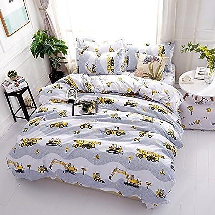 KFZ Bed SET Children Bedding Duvet Cover Flat Sheet Pillowcase No Comforter  Queen Set Sheets Set