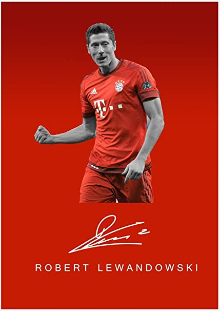 athah designs robert lewandowski fine quality sports wall poster