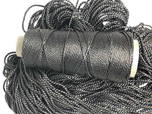 Knitsilk 2 ply Mulberry Silk Yarn in Cones, 50 Grams, 75 Yards, Great for Knitting, Crochet, Jewellery Making (Bold Black)