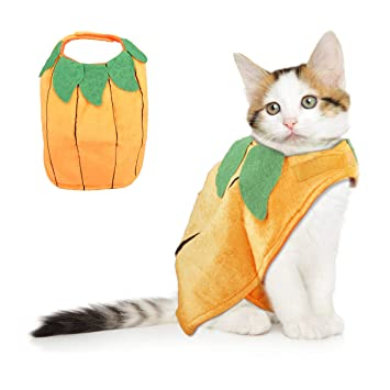 Cat Christmas Costume Adjustable Pet Cat Santa Clothes Cloak with Bells,  Puppy and Cat Xmas Claus Costumes Apparel Party Clothing Cape for Small  Dogs