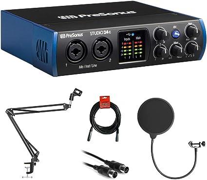 Presonus Studio 24c 2x2 USB-C Audio /& MIDI Interface