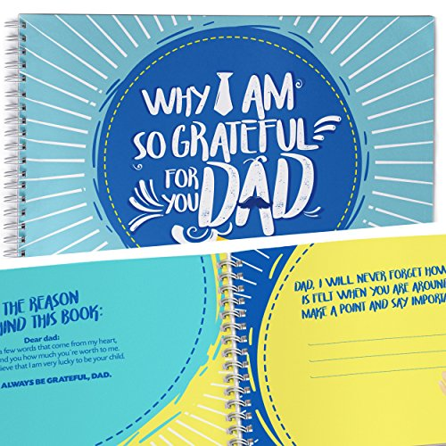 What I Love About Dad, Fill in The Blank Gift Journal, Perfect Gift for Fathers Day, Memory Book for Dad, Fill in The Love, Gifts Books, Unique Personal Gift for Him, Personalized Gifts.