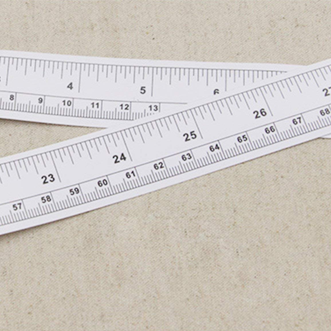 Sticky Ruler 90cm Sticky Scale Self Adhesive Metric Measure Gauge Tape Vinyl Ruler for Sewing Machine Sticker Color:White/&Black