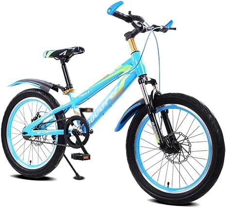 BaoKangShop Bicicletas Marco Templado Niño Bicicleta Cochecito Masculino y Femenino 16 Pulgadas Bicicleta de Montaña 5-8 Años de Edad Bicicleta (Color : Blue): Amazon.es: Deportes y aire libre