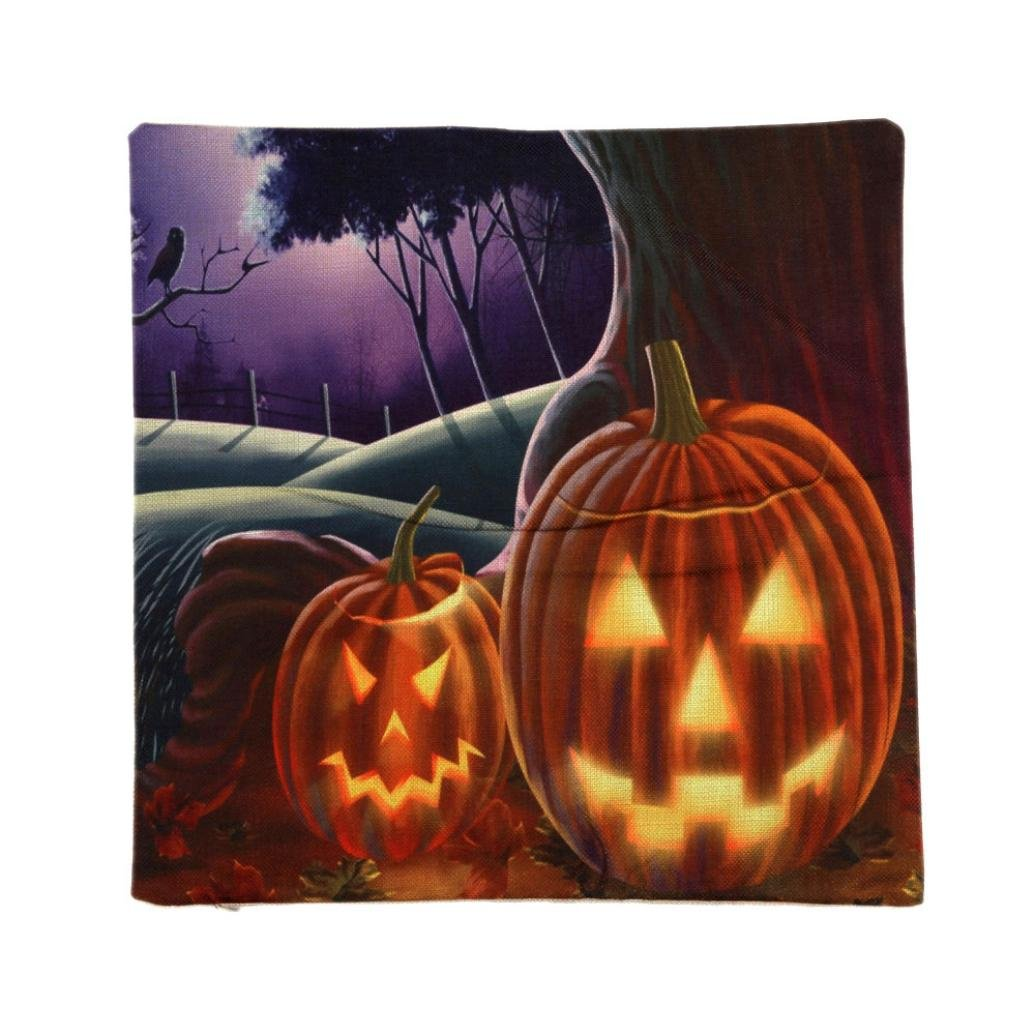 Halloween Decorations Pillow Covers, Gotd Vintage Throw Pillow Case Cushion Happy Halloween Decor Clearance Indoor Outdoor Festive Party Supplies (Multicolor C)
