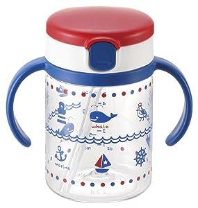 Richell Aqulea outing straw mug 200 Blue