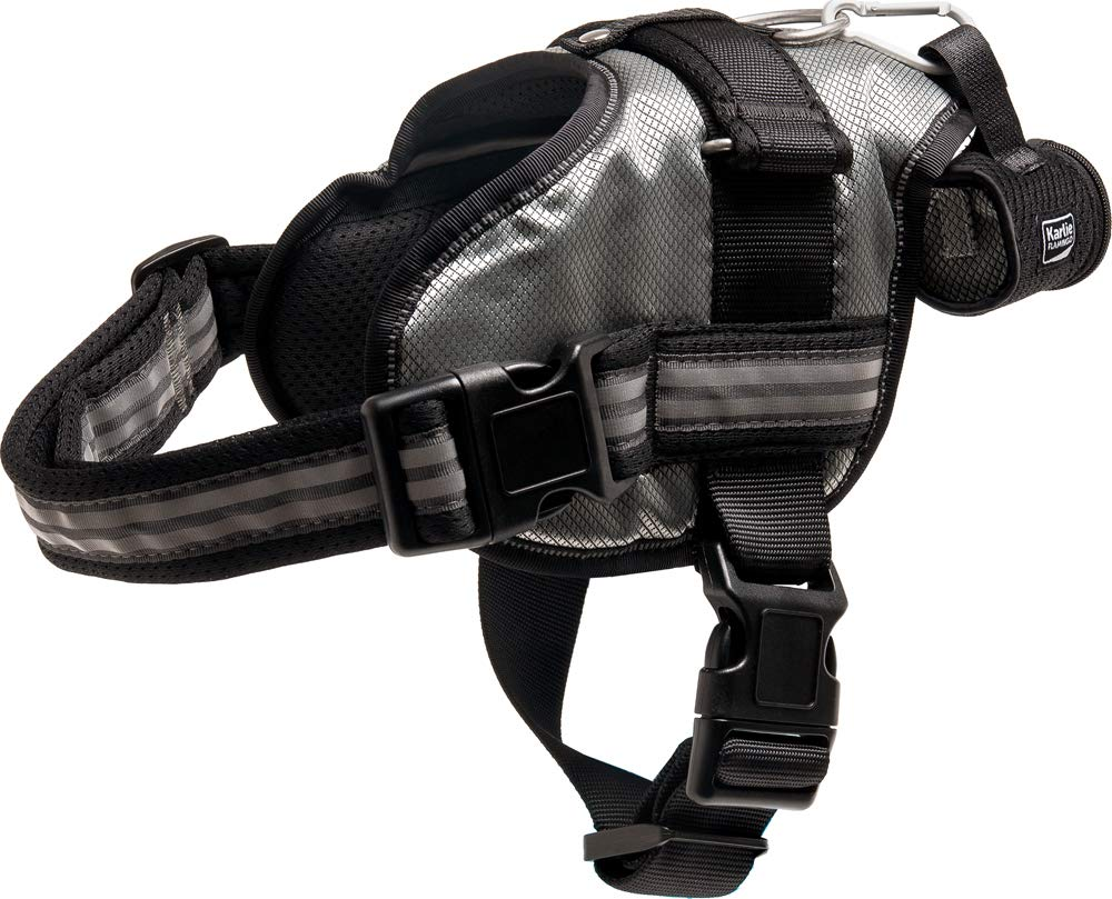 Padded Extreme Car Walking Dog Harness Waterproof Reflective Active Sport Poobag (Grey, Large)
